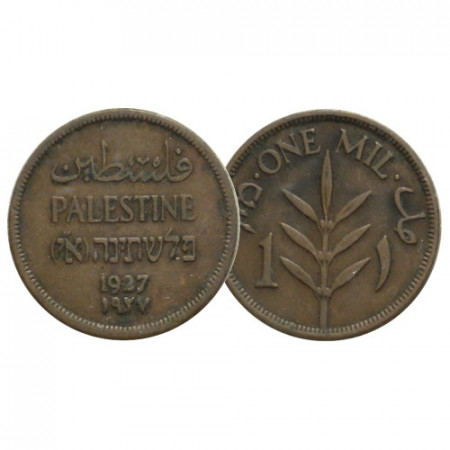 """1927 * 1 Mil Palestine """"Mandat Britannique"""" (KM 1) SUP"""