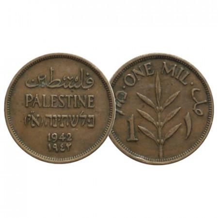 """1942 * 1 Mil Palestine """"Mandat Britannique"""" (KM 1) TTB"""