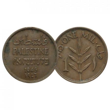 """1946 * 1 Mil Palestine """"Mandat Britannique"""" (KM 1) TTB"""
