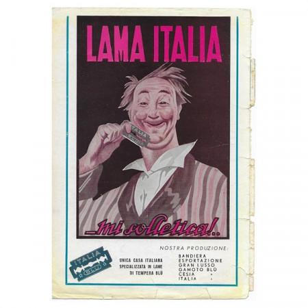 """1943 * Publicité Original Lama Italia """" Garrone - mi Solletica"""" Couleur"""