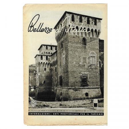 """1943 * Publicité Original Tourisme """"Bellezze d'Italia - MANTOVA"""" Blanc/Noir"""
