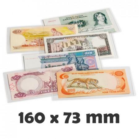 Pochettes de Protection PREMIUM 160 pour Billets (160 x 75 mm) * LEUCHTTURM
