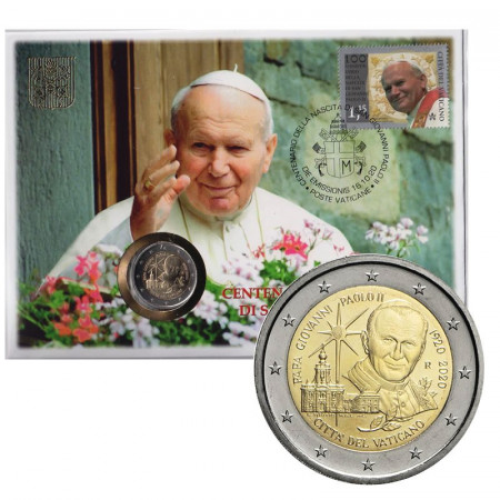 """2020 * 2 Euro VATICAN """"Centenaire Naissance de Saint Jean-Paul II"""" Numisletter"""