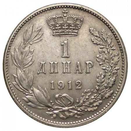 "1912 * 1 Dinar Argent Serbie ""Pierre I"" (KM 25.1) TTB"