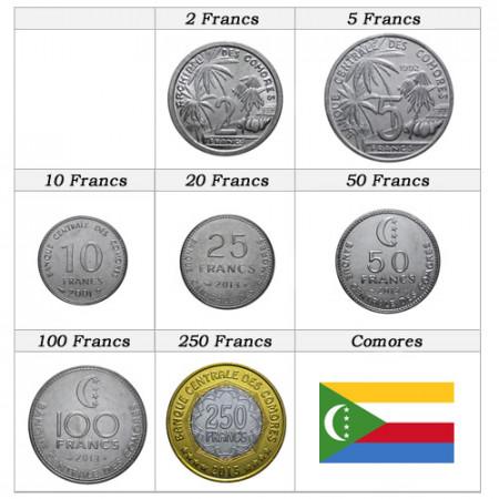 Ans Divers * Série 7 pièces Comores
