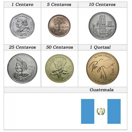 Ans Divers * Série 6 pièces Guatemala
