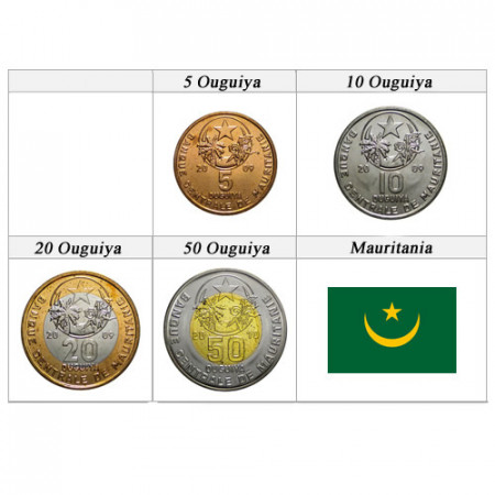Ans Divers * Série 4 pièces Mauritanie