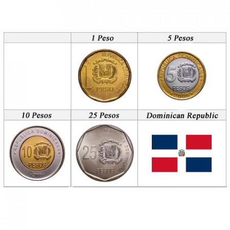 Ans Divers * Série 4 pièces République Dominicaine