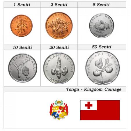 Ans Divers * Série 6 pièces Tonga