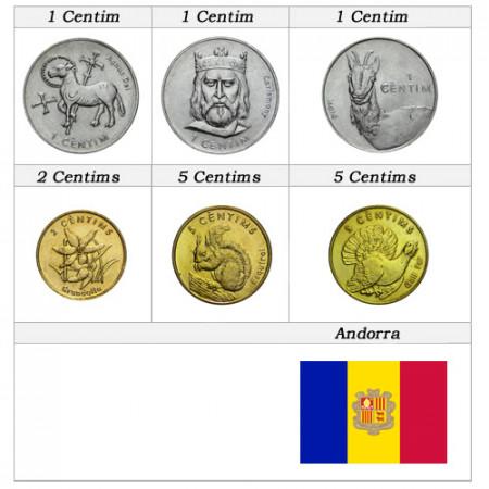Ans Divers * Set 6 pièces Andorra