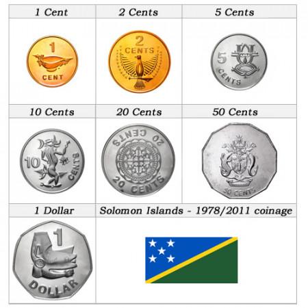 Ans Divers * Série 7 pièces îles Salomon