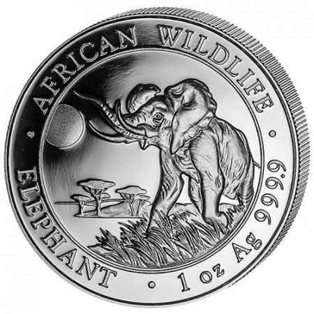 """2016 * 100 Shillings 1 OZ Somalie """"Éléphant"""""""