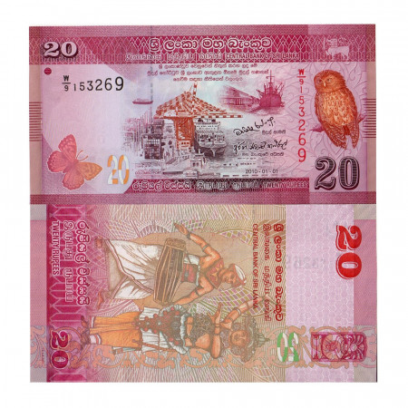 2010 * Billet Sri Lanka 20 Rupees (p123a) NEUF