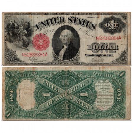 1917 * Billet États-Unis 1 dollar B