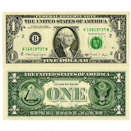 "1988 A * Billet États-Unis 1 Dollar ""B - New York City"" (p480b) SUP"