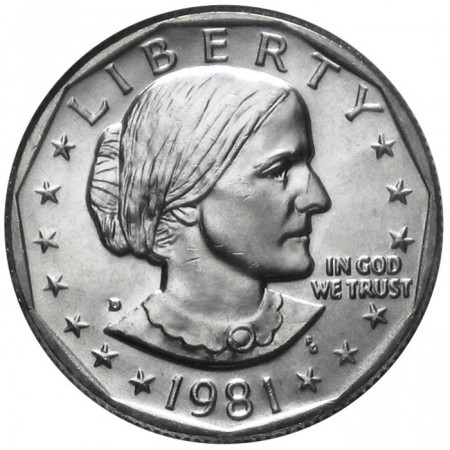 1981 * 1 Dollar États-Unis (D) Susan B. Anthony Denver
