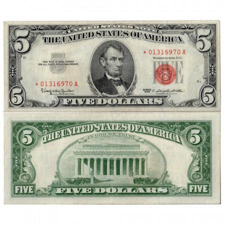 1963 * Billet États-Unis 5 dollasr TTB star note