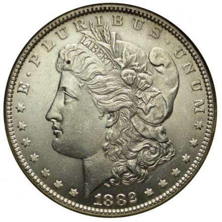 """1882 (P) * 1 Dollar Argent États-Unis """"Morgan"""" Philadelphie (KM 110) SUP+"""