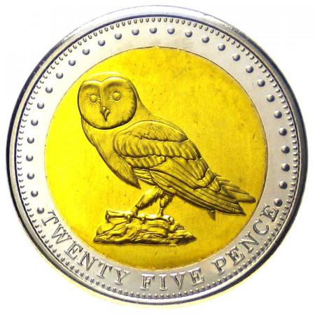 2009 * 25 pence Tristan da Cunha Chouette