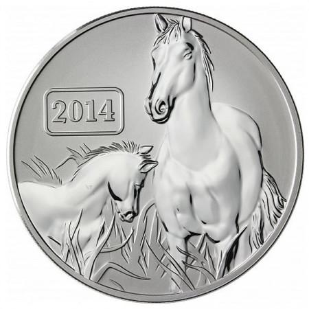 2014 * 5 Dollars en argent 1 OZ Tokelau An du Cheval