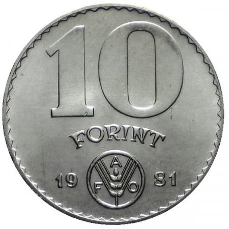 """1981 * 10 Forint Hongrie """"Série F.A.O."""""""