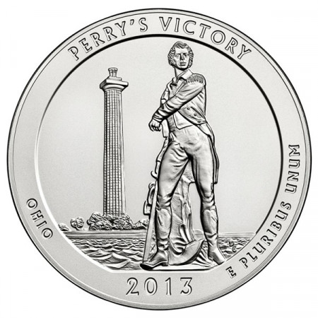 """2013 * États-Unis 5 OZ Onces en argent """"Perry's Victory"""""""