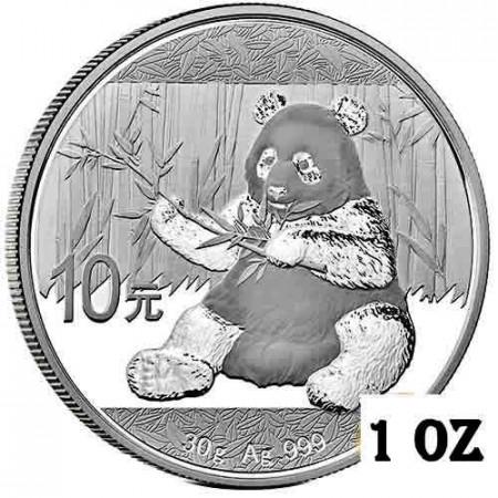 "2017 * 10 Yuan Argent (30gr) Chine ""Panda"" FDC"