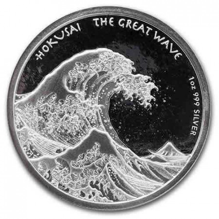 "2017 * 1 Dollar Argent 1 OZ Fidji ""Hokusai - The Great Wave"" BU"
