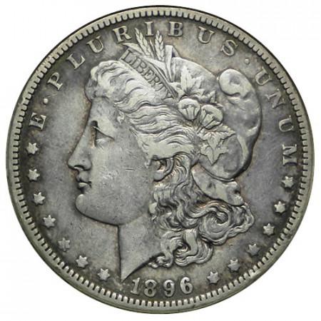 """1896 O * 1 Dollar Argent États-Unis """"Morgan"""" Nouvelle-Orléans (KM 110) TTB"""