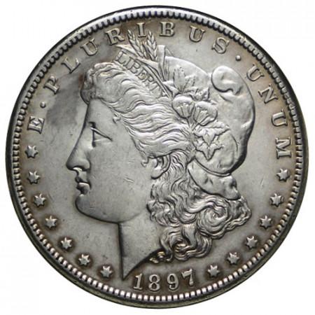 "1897 S * 1 Dollar Argent États-Unis ""Morgan"" San Francisco (KM 110) TTB"