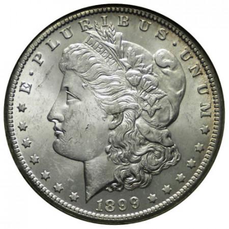 """1899 O * 1 Dollar Argent États-Unis """"Morgan"""" Nouvelle-Orléans (KM 110) SUP/SUP+"""