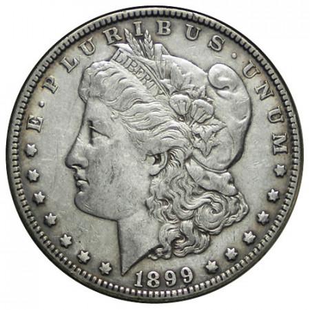 """1899 (P) * 1 Dollar Argent États-Unis """"Morgan"""" Philadelphie (KM 110) TTB"""