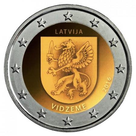 """2016 * 2 Euro LETTONIE """"Régions de Lettonie - Vidzeme"""" (1/4) UNC"""