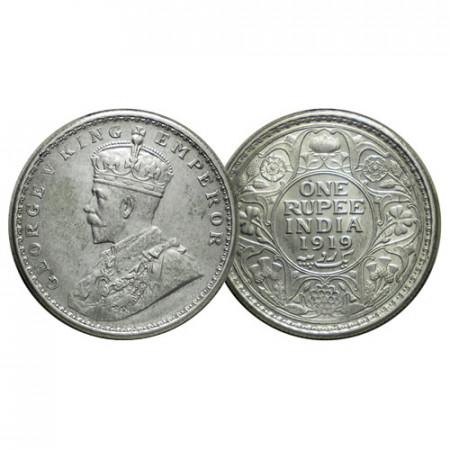 """1919 (c) * 1 Rupee Argent Inde Britannique """"George V"""" (KM 524) FDC"""