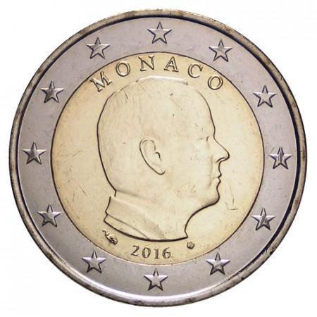 """2016 * 2 Euro MONACO """"Albert II"""" UNC"""