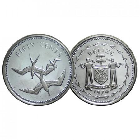 """1974 * 50 Cents Belize """"Frigate Bird"""" (KM 42a) BE"""