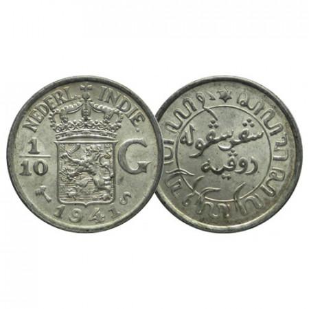 1941 S * 1/10 Gulden Argent Indes Orientales Néerlandaises - Netherlands East Indies (KM 318) FDC