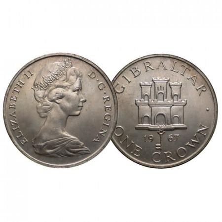 "1967 * 1 Crown Gibraltar ""Arms of Gibraltar"" (KM 4) SUP+"