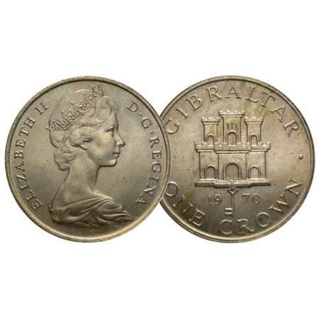 "1970 * 1 Crown Gibraltar ""Arms of Gibraltar"" (KM 4) FDC"
