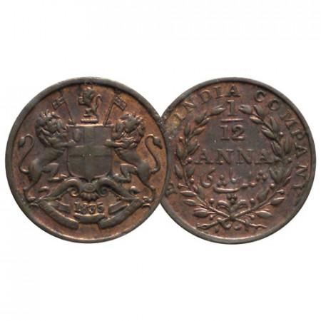 """1835 (m) * 1/12 Anna (1 Pie) Inde Britannique """"East India Company"""" (KM 445) SUP"""