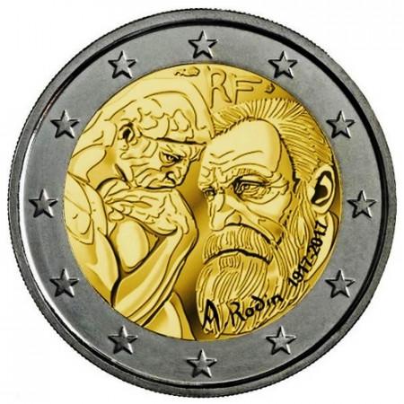 "2017 * 2 Euro FRANCE ""Auguste Rodin"" UNC"