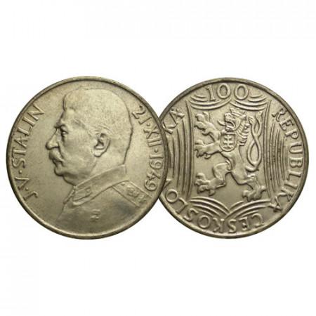 "ND (1949) * 100 Korun Argent Tchécoslovaquie ""70e Naissance de Joseph Staline"" (KM 30) SUP+"