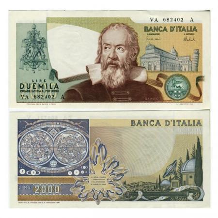 """1973 * Billet Italie République 2000 Lire """"G Galilei""""  BI.740 (p103a) SUP"""