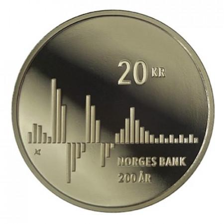 """2016 * 20 Kroner Norvège """"Bicentenaire de la Banque Centrale"""" UNC"""