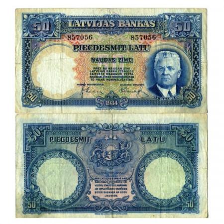 "1934 * Billet Lettonie 50 Latu ""K Ulmanis"" (p20a) TTB"