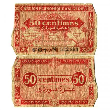 """L.1944 * Billet Algérie 50 Centimes """"Administration Français"""" (p97a) B"""