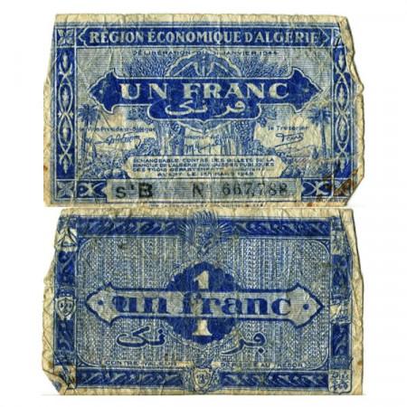 """L.1944 * Billet Algérie 1 Franc """"Administration Français"""" (p98a) B"""