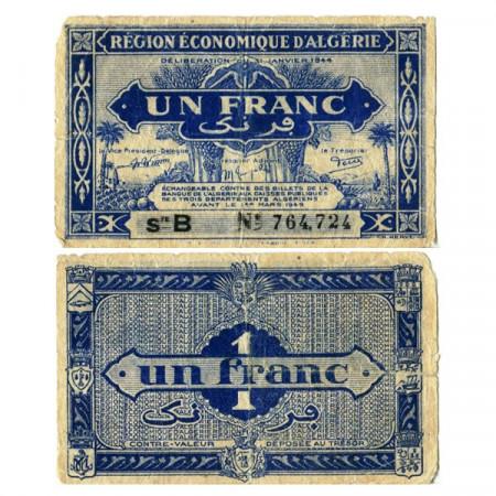 """L.1944 * Billet Algérie 1 Franc """"Administration Français"""" (p98a) TB+"""
