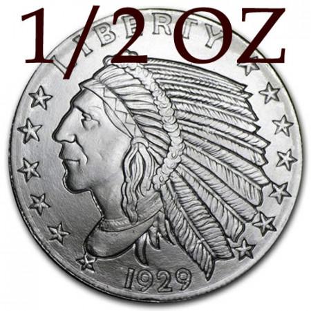 """2016 * Half Troy Ounce 1/2 OZ Once Argent """"États Unis - Tête d'Indien"""" BU"""
