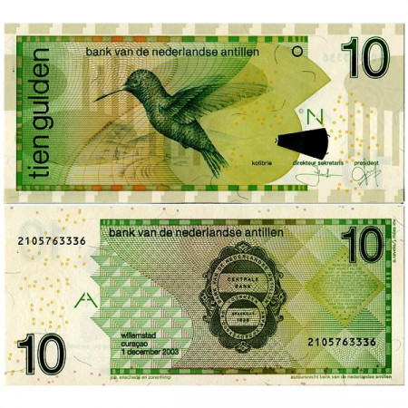 "2003 * Billet Antilles Néerlandaises 10 Gulden ""Colibri"" (p28c) NEUF"